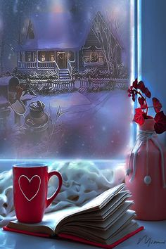 Image hosted in ImgBB Good Morning Winter Images, Good Morning Coffee Gif, Good Night Babe, Good Morning Good Night, Gif Animé, Animated Gif, Gifs, Winter Coffee, Winter Love