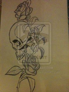 Death-Skull-N-Rose-Tattoo-Design-Ideas