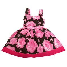 Girls Flower Pattern Summer Wear Special Occasion Dress