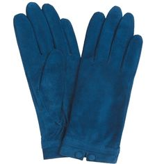 John Lewis 2 Button Suede Gloves , Cobalt ($22) ❤ liked on Polyvore featuring accessories, gloves, cobalt, suede leather gloves, john lewis, fleece lined gloves and suede gloves