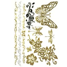 Allydrew Large Metallic Gold Silver and Black Body Art Temporary Tattoos, Dragonfly and Butterfly ** Be sure to check out this awesome product. (As an Amazon Associate I earn from qualifying purchases) Tattoo Paper, Metallic Gold, Silver, Art Costume, Cold Cream, Make Up Remover, Inspirational Celebrities, Body Makeup, Baby Oil