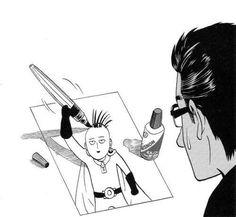 One Punch Man - Saitama and Manganist Yusuke Murata One Punch Man 3, One Punch Man Funny, Saitama One Punch Man, One Punch Man Manga, Manga Anime, Anime One, Sad Anime, Caped Baldy, Alice Book