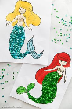 Coloring Pages Mermaid Coloring Pages - Mermaid Craft for Kids. This is a perfect activity for a Mermaid Party!Mermaid Coloring Pages - Mermaid Craft for Kids. This is a perfect activity for a Mermaid Party! Mermaid Kids, Mermaid Art, Little Mermaid Crafts, Diy With Kids, Art For Kids, Craft Activities, Preschool Crafts, Easter Crafts, Fall Crafts