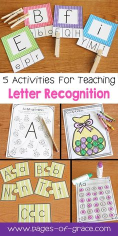 Are you looking for some great activities for teaching letter recognition? Help your students master uppercase and lowercase letters with this activity packet. Kids practice identifying letters with 3 engaging worksheets and 2 fun center activities. Alphabet Kindergarten, Learning The Alphabet, Kindergarten Literacy, Preschool Learning, Fun Learning, Teaching Letter Recognition, Teaching Letters, Letter Tracing, Preschool Letters