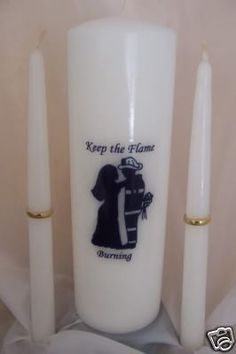 Firefighter Unity candle could only be used at the reception