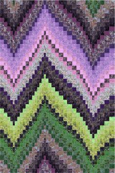 """No charts! """"No-Measure"""" Bargello by Wendy Mathson. This is a """"Strip Club"""" pattern available from CozyQuilt.com"""