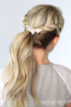 27. #Twisted Ponytail - 30 #Sensational Second Day Hair Ideas ... → Hair #Ideas