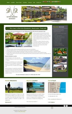 Website design and brand design for Bayview Residence Bang Saray, Thailand