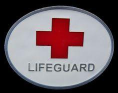 Beach Patrol Lifeguard Swimmer Sport Cross Belt Buckle Boucle de Ceintures