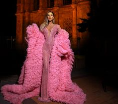 Pink Jumpsuit made by AlbinaDyla Couture Fashion, Paris Fashion, Sexy Outfits, Trendy Outfits, Pink Jumpsuit, Color Rosa, Red Carpet Looks, Homecoming Dresses, Prom