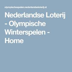 Nederlandse Loterij - Olympische Winterspelen - Home
