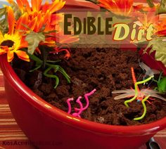 Make your own dirt and bug cakes