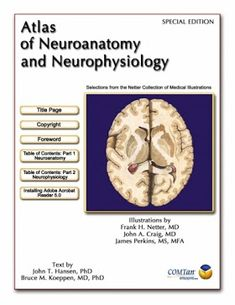 Atlas Of Neuroanatomy And Neurophysiology Frank H Netter Atlas Medical Illustration Physics Books