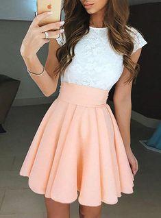 Teen Dresses Casual, Pretty Dresses For Teens, Cute Summer Dresses, Casual Summer Outfits, Outfits For Teens, Cute Outfits, Floral Outfits, Teen Skirts Outfits, Elegant Dresses