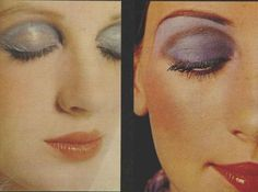 Retro Makeup The Seventies Face – Make-up for 1971 - Experimental Colors for the Seventies Face from the palette of Christian Dior in Retro Makeup, Vintage Makeup, Vintage Beauty, 1970s Makeup Eyes, Christian Dior, Die Siebziger, Beauty Makeup, Eye Makeup, Glamour Makeup