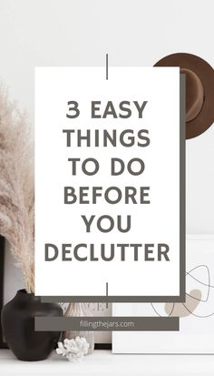 So… you know all those times when you WANT to declutter, but it's just too much to think about and actually start? Yeah... I've been there too. Here are my 3 easy tips for things you can do BEFORE you actually get rid of anything. #decluttering #organizing Everyday Hacks, Peter Walsh, Decluttering Ideas, Organizing, Organization, Clutter Free Home, Deal Sites, Feeling Overwhelmed, Home Free