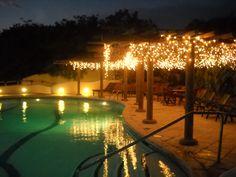 Pool at night. Pelican Eyes Resort, San Juan Del Sur, Nicaragua