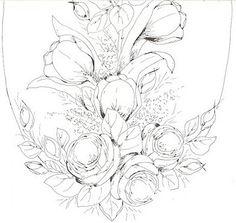 Pintura em Tecido Passo a Passo Com Fotos: Riscos Desenhos Para Pintura em Tecido Flores