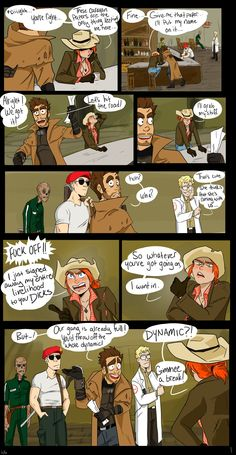 FNV - The Gang Meets Cass - Part 1 The gang meets Rose of Sharon Cassidy. Like most things they get involved in, the situation quickly spirals out of control. PART 2 Fallout Comics, Fallout Funny, Fallout Fan Art, Rainbow Six Siege Art, Fallout New Vegas, Rose Of Sharon, Gaming Memes, Elder Scrolls, Dark Souls