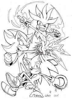 The Hedgehog Trio by Auroblaze on DeviantArt Shadow The Hedgehog, Silver The Hedgehog, Sonic The Hedgehog, Dark Sonic, How To Draw Sonic, Goku Drawing, Hedgehog Movie, Sonic Franchise, Sonic Heroes