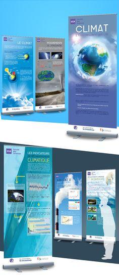 ULB Faculté des Sciences - Création de 8 roll-ups sur le Climat Digital Media, Graphics, Projects, Graphic Design, Printmaking