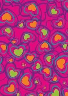 Papel regalo corazón colores