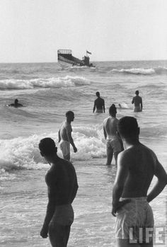 The beaches of Beirut , 1958
