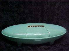 Vintage-SINGER-BUTTONHOLER-1960-489500-489510-Mint-Green-Case-4-Templates