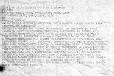 Mensagem circulada no dia 8 de Setembro de 1974. Fonte: História das Transmissões Militares, Portugal.