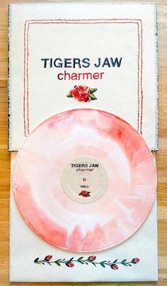 Tigers Jaw - Charmer /750 maroon & white starburst vinyl    Run for Cover Records 2014