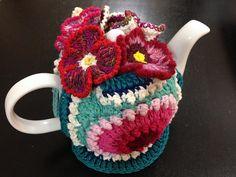 Ravelry: Iinwibisono's Frilly Pansy Tea Cozy