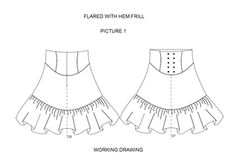 A wide selection of different skirt styles - just take your basic skirt patterns and start!