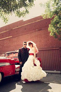 A Punk, Rockabilly, Neo-Gothic, Country  Western Wedding