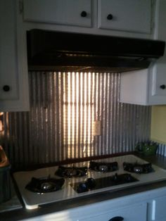 Corrugated Metal Backsplash  Melissa Mashburn  Pinterest Impressive Tin Backsplash For Kitchen Decorating Design