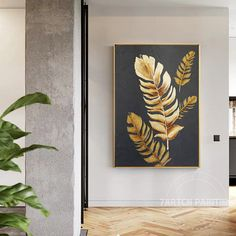 Modern abstract acrylic paintings gold feather canvas black background wall art huge size oil painting home decor cuadros abstractos Gold Canvas, Hand Painted Canvas, Diy Canvas Art, Black Canvas, Oil Painting Abstract, Acrylic Paintings, Abstract Portrait, Portrait Paintings, Acrylic Art