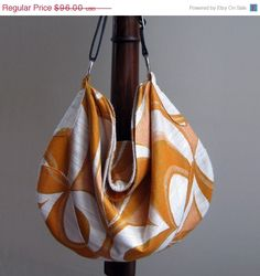Orange Hobo Bag via Julia Carrabino Etsy shop
