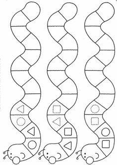 Geometric figures and patterns Preschool Learning Activities, Kindergarten Worksheets, Preschool Activities, Teaching Kids, Kids Learning, Maternelle Grande Section, Math Patterns, Math For Kids, Kids Education