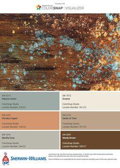 Rustic Paint Colors, Rustic Color Palettes, Paint Colors For Home, Brown Color Schemes, Paint Color Schemes, Rustic Color Schemes, House Color Schemes Interior, Interior Design, Sherwin Williams Color Palette