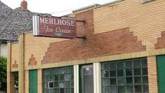 Old ice cream parlor in Wyandotte Michigan