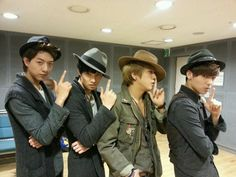 Twitter / CNBLUE_4: hello. This is white guy.guy.guy.guy.black guy. White guy.big-eyed guy.small-eyed guy.we are shooting luck for you to get new year's luck. Pang! Pang! Pang! Pang!!!! ^_^