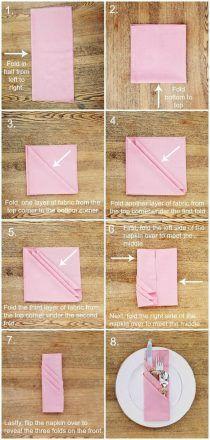 tutorial dobrar guardanapo porta talheres
