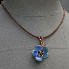 porcelain flower pendant by earthformsbymarie on Etsy