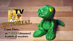 Come fare un t-rex (dinosauro) in pasta di zucchero