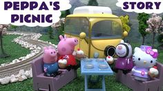 Peppa Pig Play Doh Cupcake Thomas and Friends Hello Kitty Story Muddy Pu... Peppa Pig and her friends go on a picnic in their camper van with help from Kitty of Hello Kitty. Thomas makes an appearance along with a plate of Play Doh cupcakes. The camper van is a very clever toy with removable seats and table. #peppapig #playdoh #story #playdough #cupcake #cupcakes #thomasandfriends #hellokitty #toytrain #muddypuddles