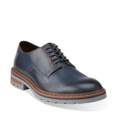 Dargo Walk Dark Blue Leather - Mens Extra Wide Width Shoes - Clarks® Shoes