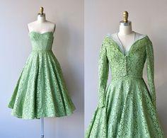 Parc Monceau dress  lace 1950s dress  vintage 1950s by DearGolden, $238.00