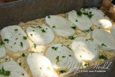 Maya's World: Pîine cu ou si mozzarella Mozzarella, Sandwiches, Eggs, Cheese, Breakfast, Salads, Egg, Egg As Food