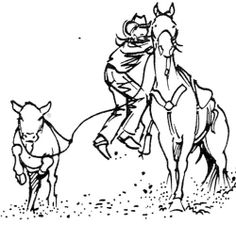 Unmounted Rubber Stamps, Western, Calf Roping Set, Cowboys, Cowboy, Rodeo Sports