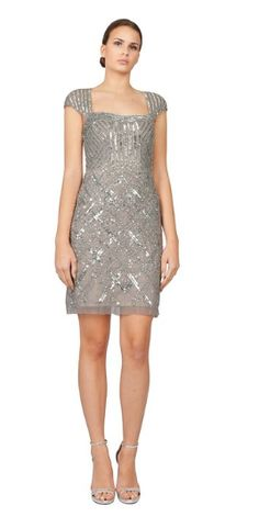 Cap Sleeve - Beaded and Sequined