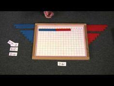Montessori Math Lesson - Addition Strip Board free pdf of board http://www.montessorimaterials.org/Math/AdditionStripBoard.pdf
